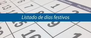 Listado de festivos Nacionales, Locales y de Comunidad Autónoma de Andalucía